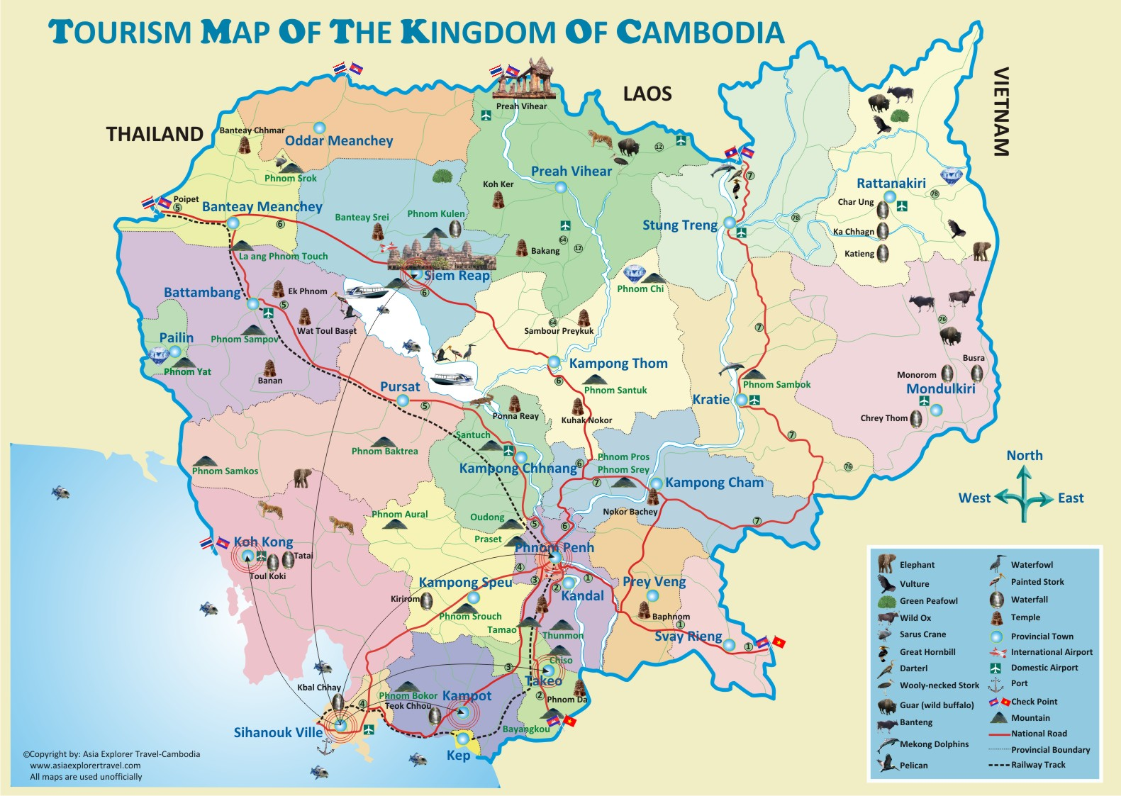 Asia Explorer Travel Cambodia Explore Undiscovered Asia – Cambodia Tourist Attractions Map